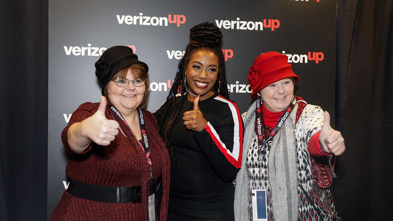 DeAnna Buhl and Barbara Dunn pose with Deanii Scott