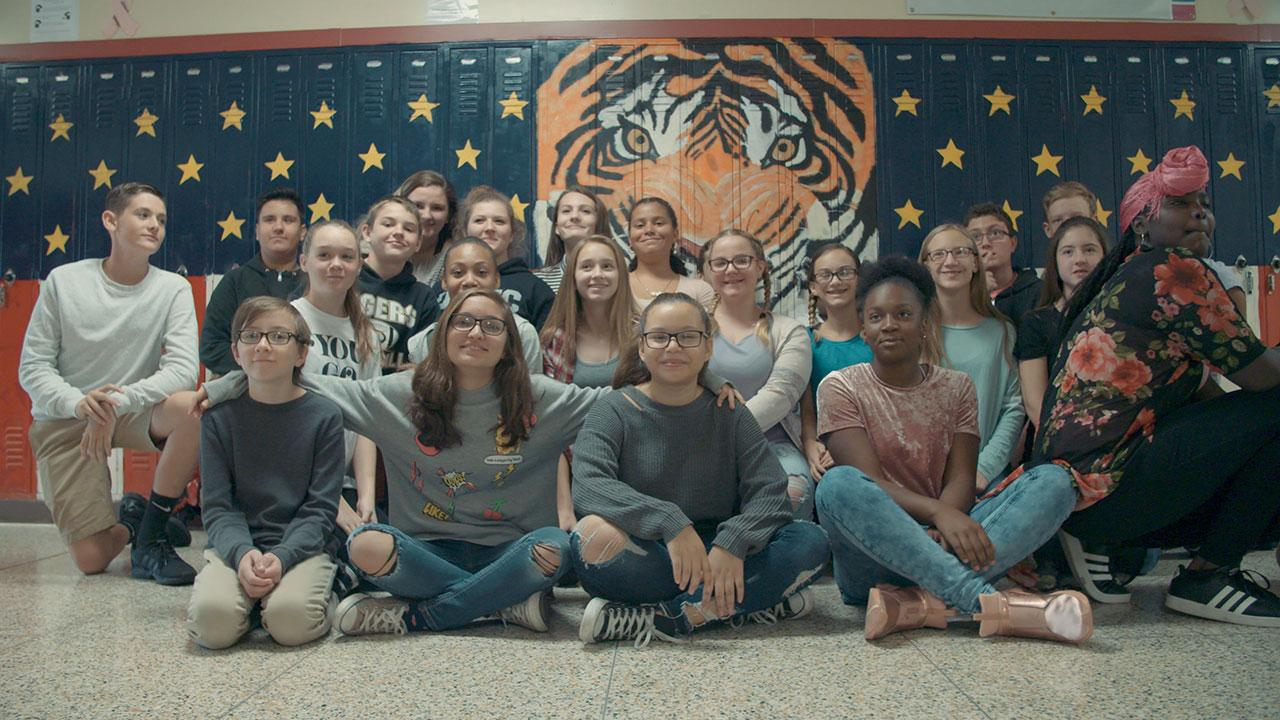 The Armstrong Middle School Tiger Tech team