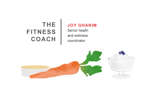 Joy Ghanim, a senior health and wellness coordinator