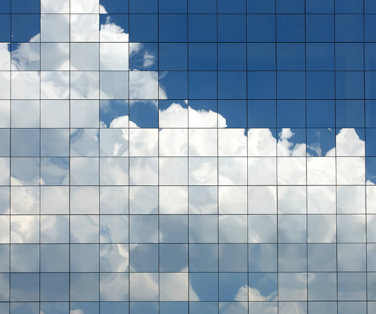 A grid picture of clouds