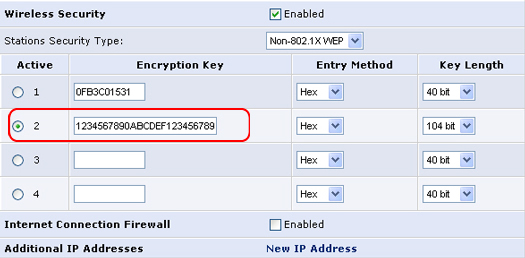 how to change your internet security to wep