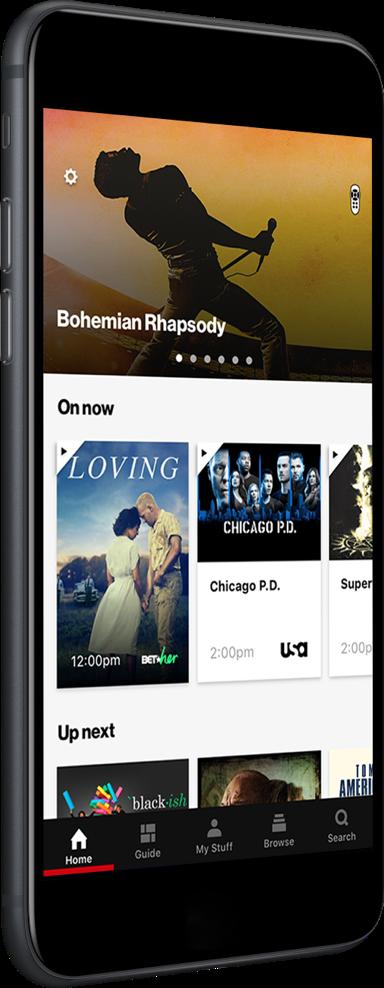 Mira todos tus programas y películas favoritos con la aplicaciónFios TV en tu aparato móvil.