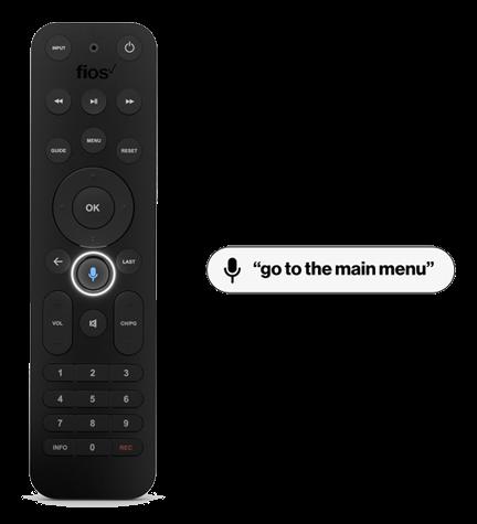 Ejemplo del control remoto por voz: ve al menú principal