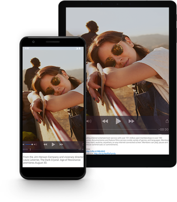 Haz streaming de programas de TV y películas en dispositivoscompatibles