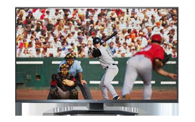 Un jugador de béisbol a punto de batear en un campo.