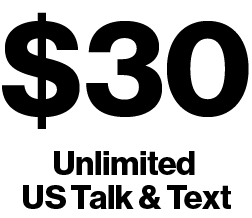 $30 Unlimited Talk and Text Plan