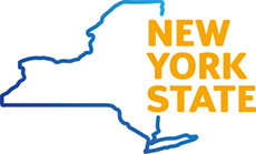New York State map logo