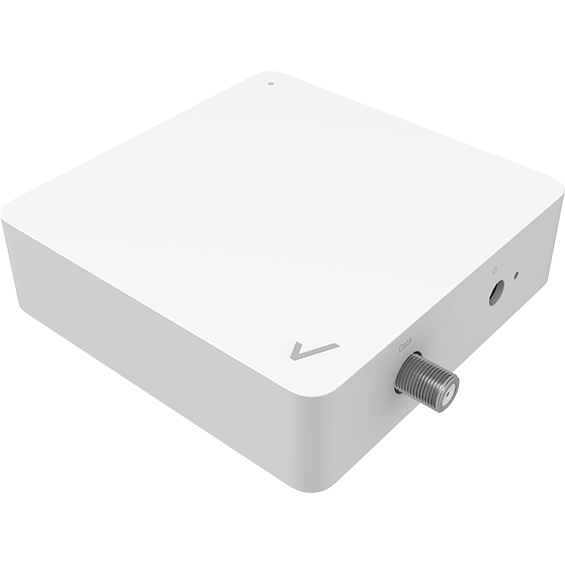 Front angle view of the MOCA Ethernet Adapter