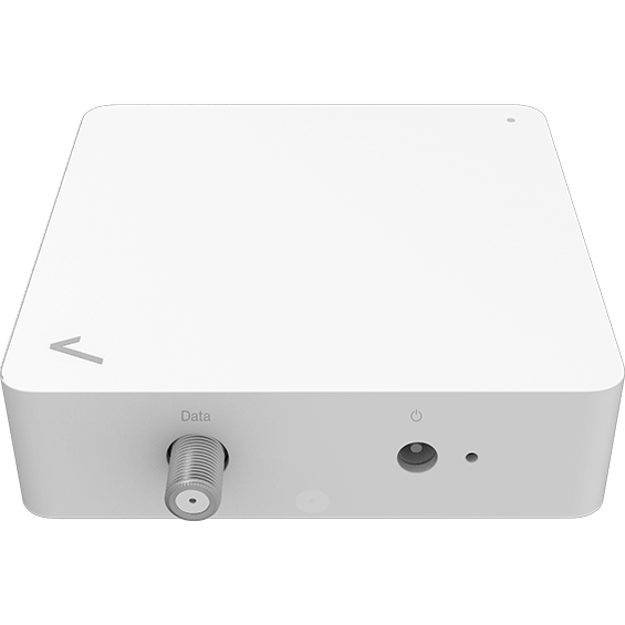 Top front view of the MOCA Ethernet Adapter