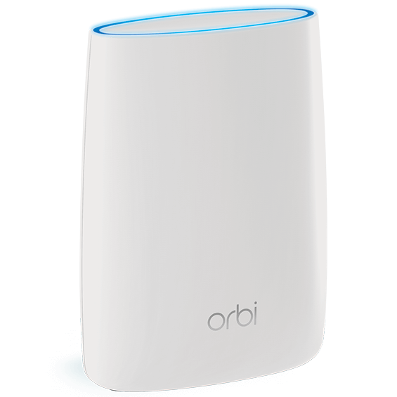Front right angle view of the Netgear Orbi  Add-on Satellite
