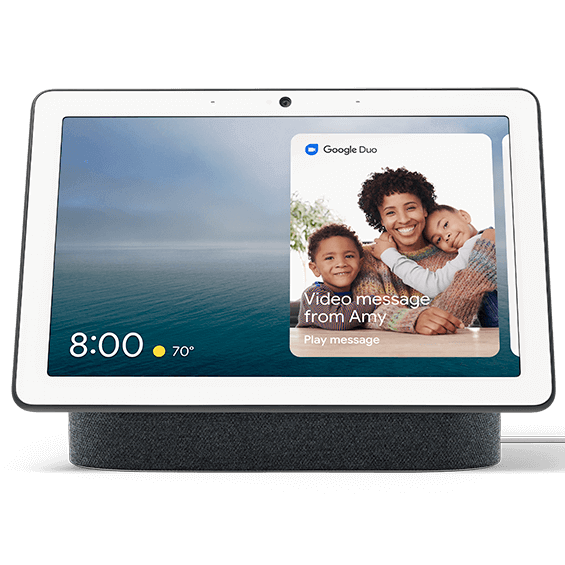 Charcoal Google Nest Hub Max product image front view