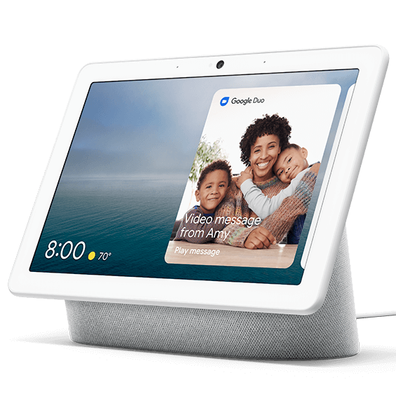Chalk Google Nest Hub Max product image angle view