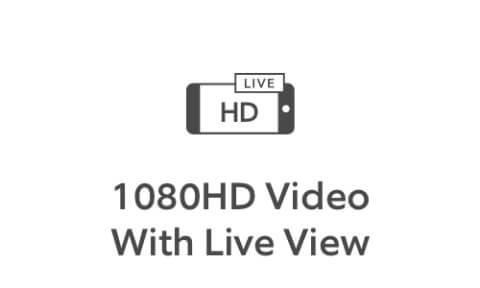 Ícono devideo 1080 HD confeed en vivo