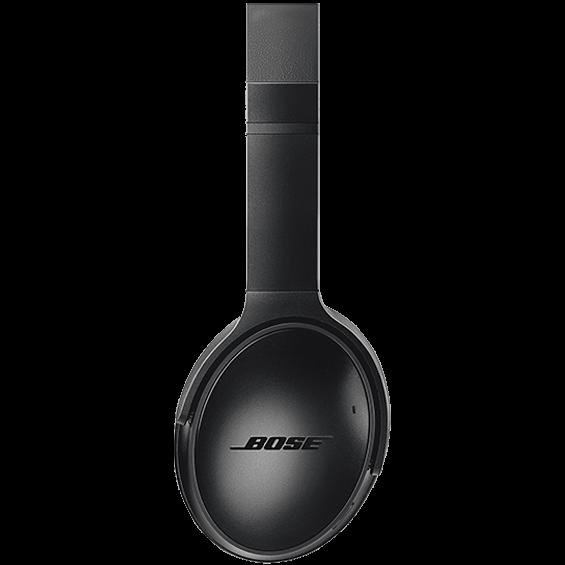Imagen lateral de los audífonos inalámbricos Bose QuietComfort 35 II, negro