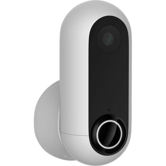 Vista frontal de la cámara de seguridad Canary Flex- Blanco