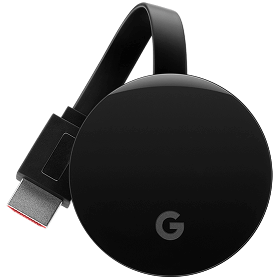 Front view of the Google Chromecast Ultra