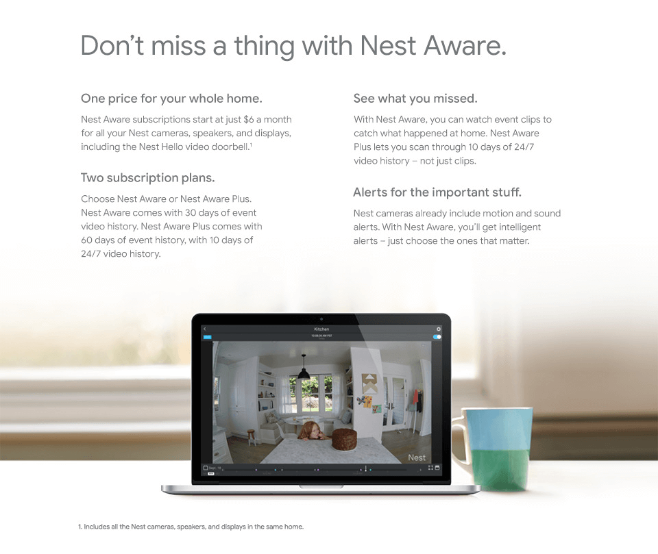 No te pierdas nada con Nest Aware