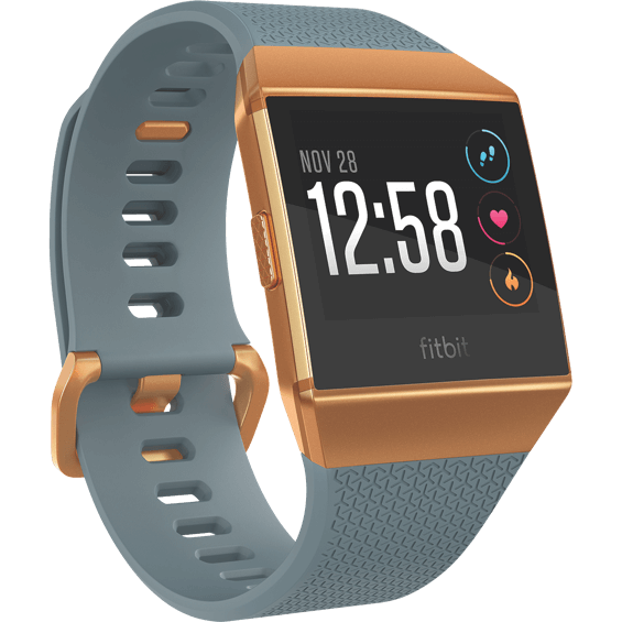 Front right angle view of Fitbit Ionic - Slate
