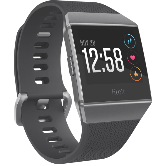 Front right angle view of Fitbit Ionic - Gray