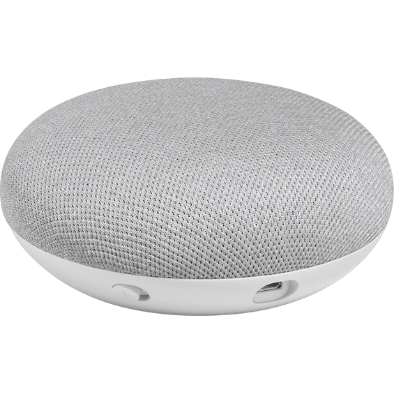 Top angle view of Google Home Mini - Chalk