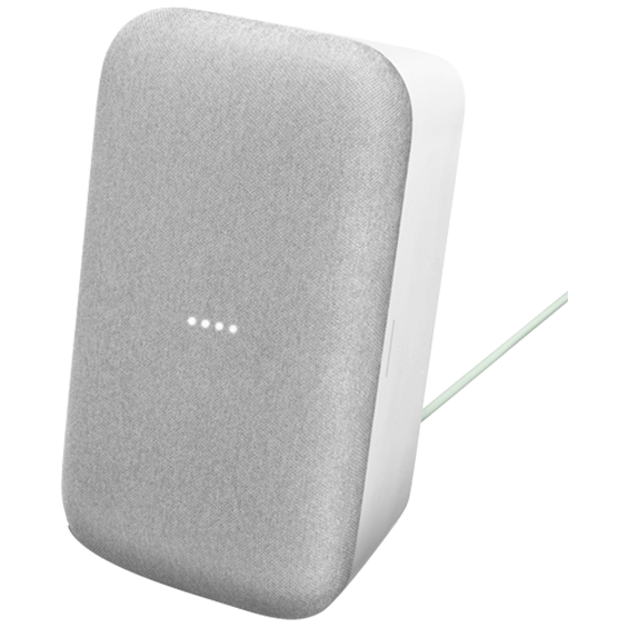 Front right angle vertical view of Google Home Max - Chalk