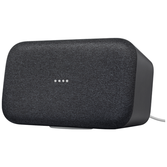 Front right angle horizontal view of Google Home Max - Charcoal