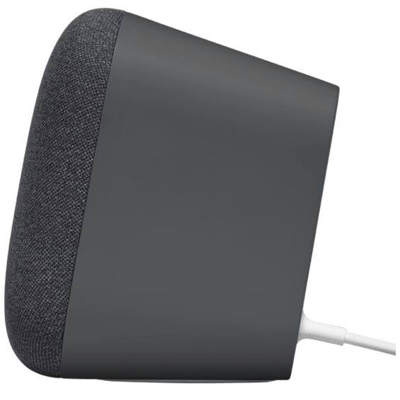 Side view of Google Home Max - Charcoal