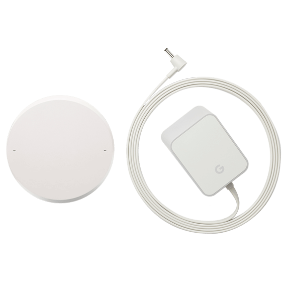 Google Home view of power cable and adapter