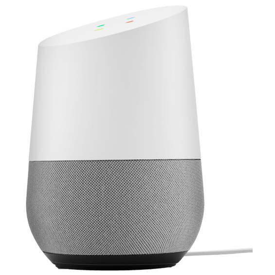 Side angle view of Google Home