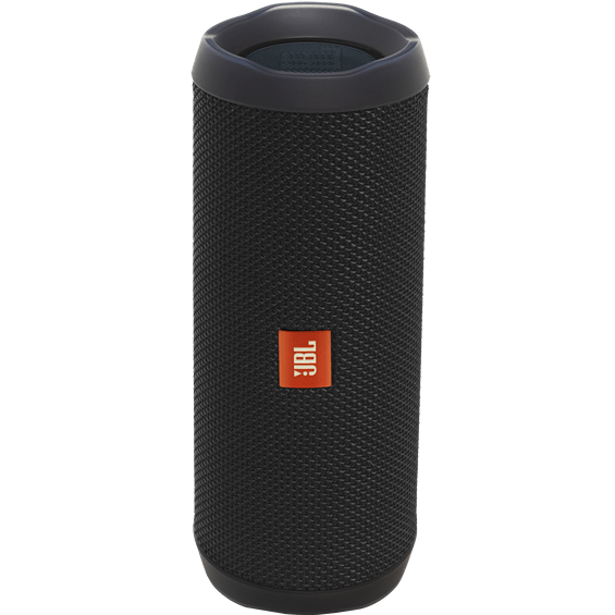 Front view of Black JBL Flip 4 Speaker