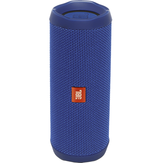 Front view of Blue JBL Flip 4 Speaker