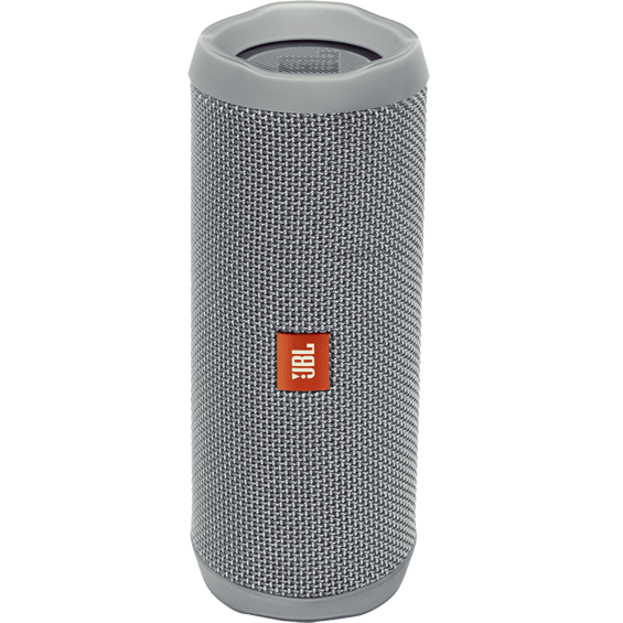 Front view of Gray JBL Flip 4 Speaker