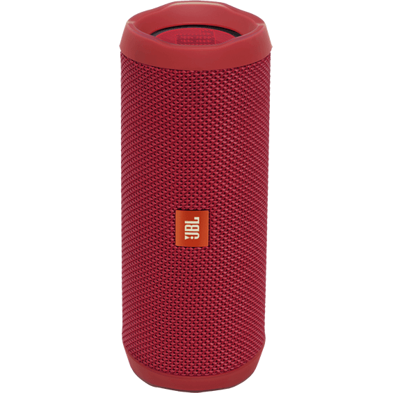 Front view of Red JBL Flip 4 Speaker