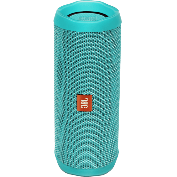 Front view of Teal JBL Flip 4 Speaker