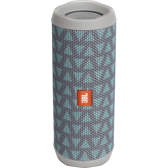 Front view of Teal/Gray JBL Flip 4 Speaker