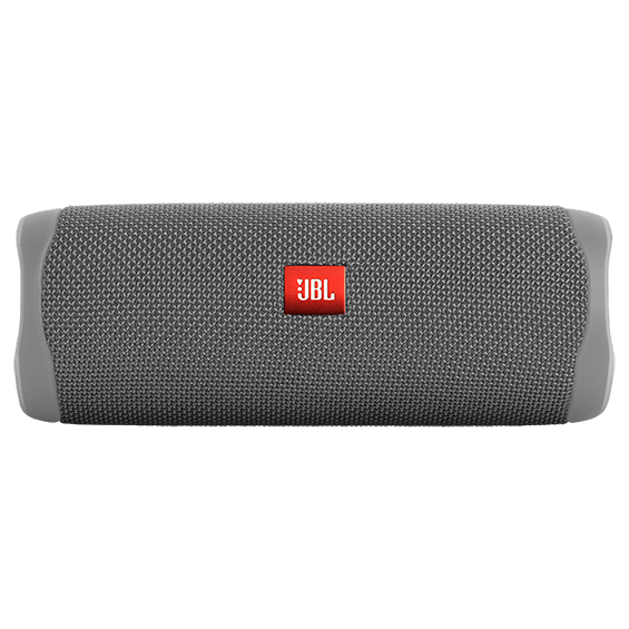 Gray JBL Flip 5 product image - front horizontal view