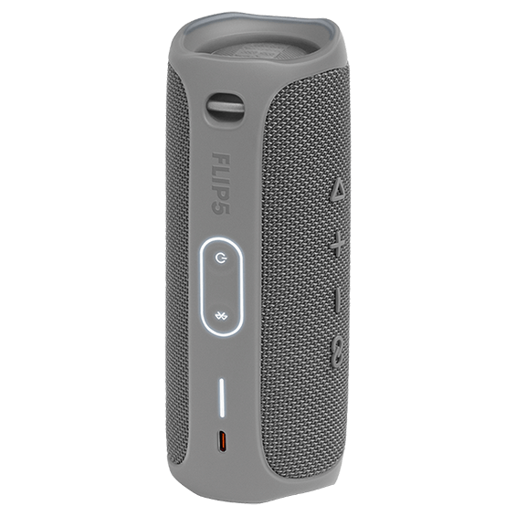 Imagen del productoJBL Flip5, gris - Vista de lateral trasero