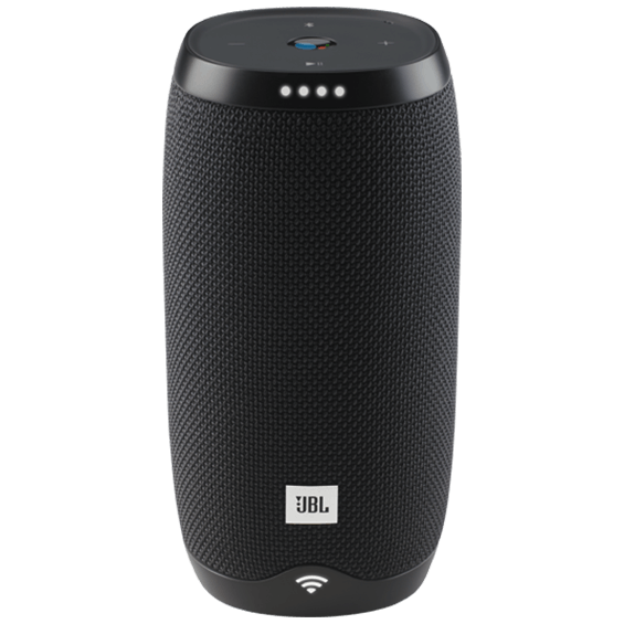 Front view of JBL Link 10 Voice-Activated Speaker - Black