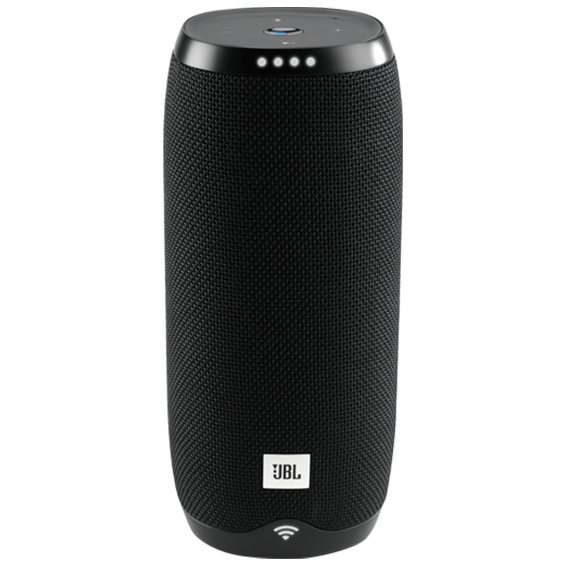 Front view of JBL Link 20 Voice-Activated Speaker - Black