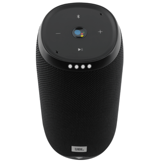 Back view of JBL Link 20 Voice-Activated Speaker - Black