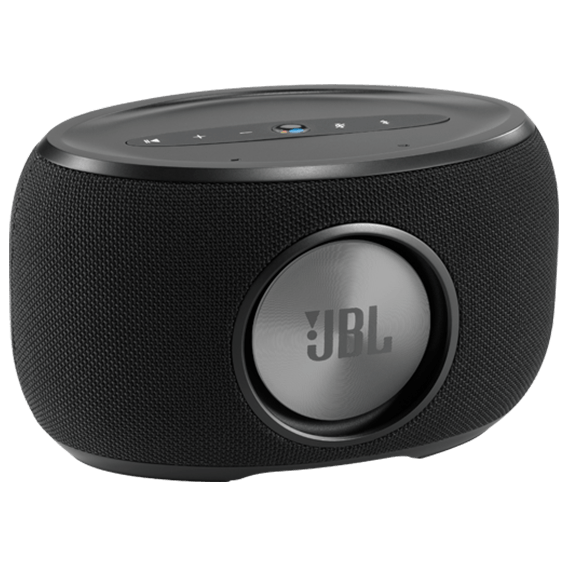 Back view of JBL Link 300 Voice-Activated Speaker - Black