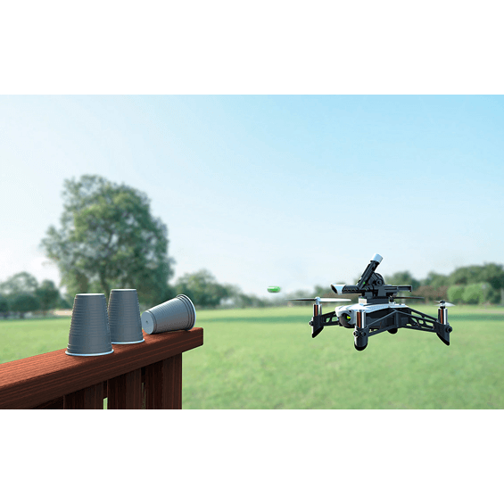 View of Parrot Mambo Mini Drone flying outdoors