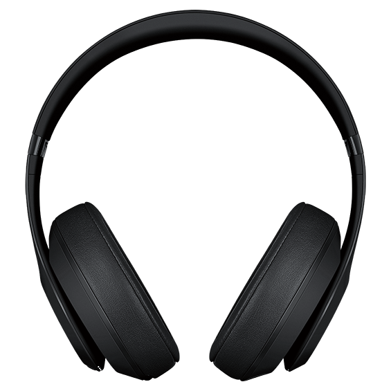 Auriculares externos Beats Studio 3 Wireless, negro mate - Vista frontal