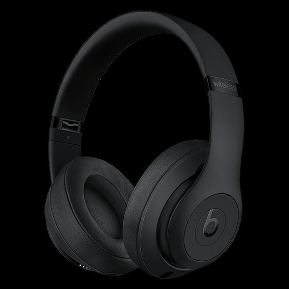 Auriculares externos Beats Studio3Wireless, negro mate - Vista lateral izquierda