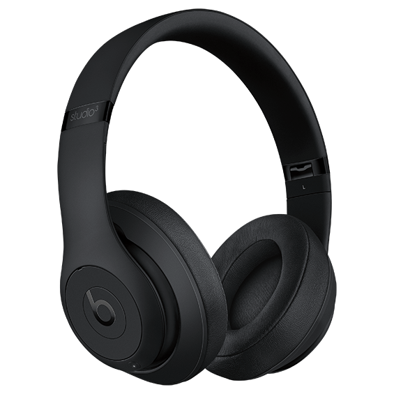 Auriculares externos Beats Studio3Wireless, negro mate - Vista lateral derecha