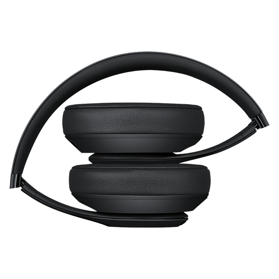 Auriculares externos Beats Studio3Wireless, negro mate - Vista de auriculares plegados