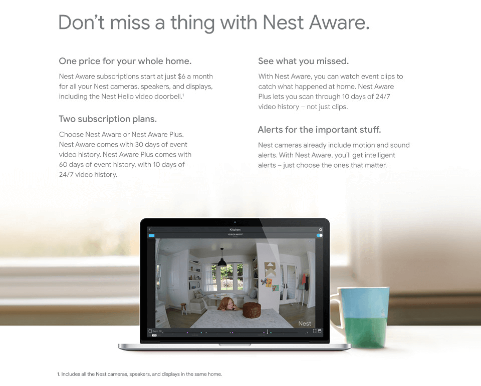 Don't miss a thing with Nest Aware