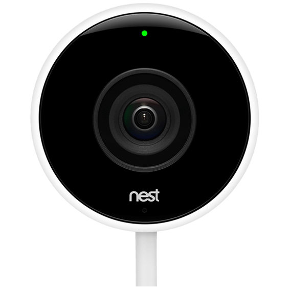 Front closeup view of the Nest Cam Outdoor Camera
