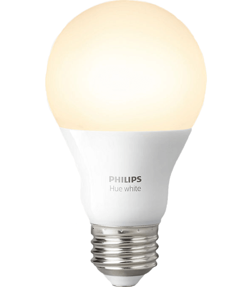 Photot of single Philips Hue white bulb