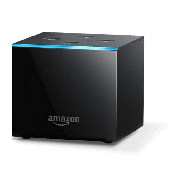 View of Amazon Fire TV Cube
